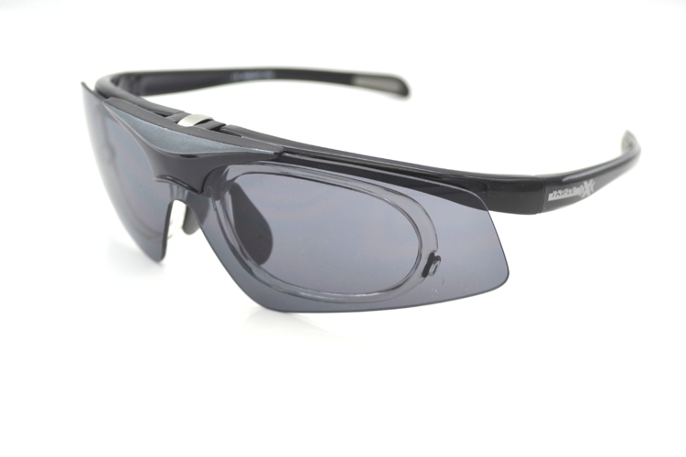 Picture of Insight One - Die Triple xXx Sportbrille mit Korrektionsadapter, schwarz/gau