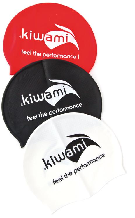 Bild von KIWAMI Schwimmkappe, weiß,  Silikon
