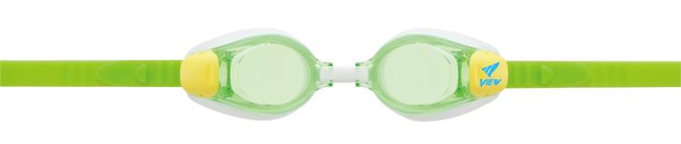Bild von Kinder-Schwimmbrille mit Plangläsern V-730JA, grün/gelb, ca. 4-9 Jahre, 1 Stk.