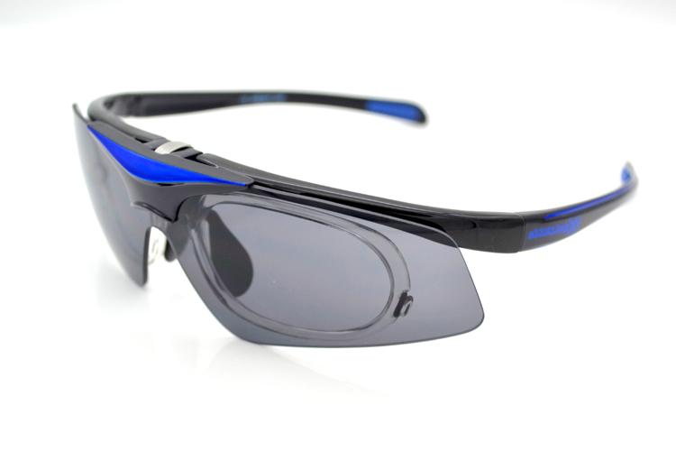 Picture of Insight One - Die Triple xXx Sportbrille mit Korrektionsadapter, schwarz/blau