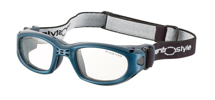 Bild von Sportschutzbrille mit verstellb. Kopfband, Gr. 49-21, blau, schulsporttauglich