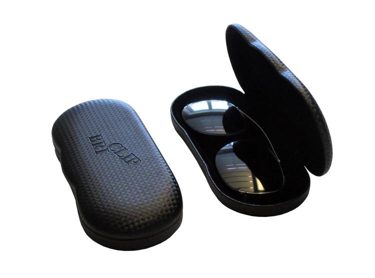 Bild von BriClip-Etui für Nylonclip-Vorhänger, Alu schwarz, 1 Stück