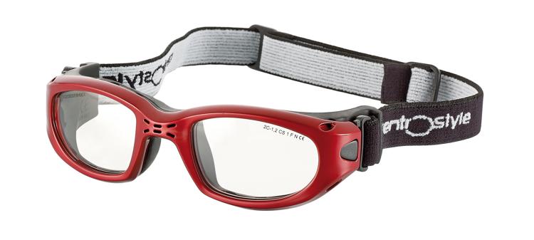 Bild von Sportschutzbrille mit verstellbarem Kopfband, Gr. 49-21, rot, schulsporttauglich