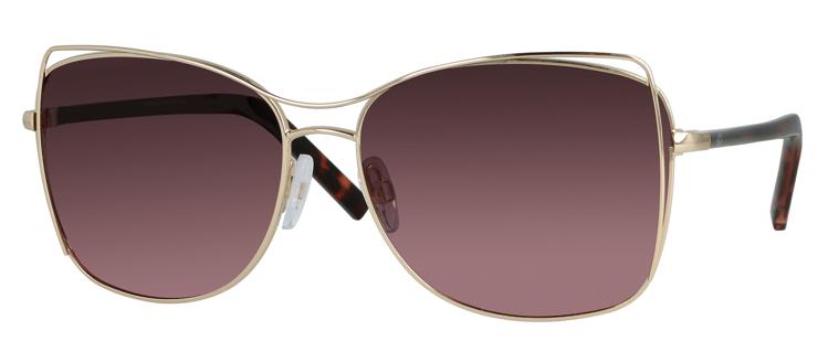 Bild von Metall-Sonnenbrille, gold, Gr. 59-15, polarisierende Gläser pink Verlauf