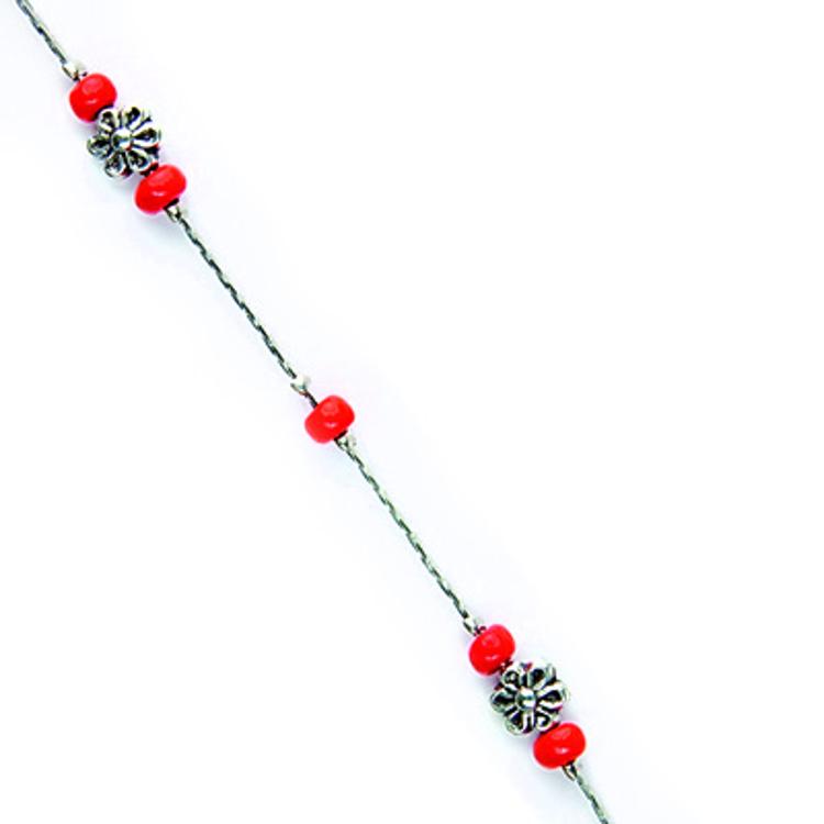 """Bild von Metall-Brillenkette """"Paris"""", rote Perlen, 1 Stück"""