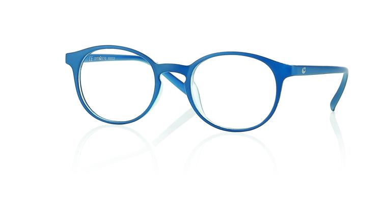 """Bild von Kunststoff-Fertiglesebrille, """"Round"""", blau kristall, Gr. 47-20, 1 Stück"""