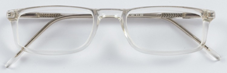 Bild von Kunststoff-Lesebrille, transparent, Gr. 53-20, inkl. Etui, +2,75 dptr., 1 Stück