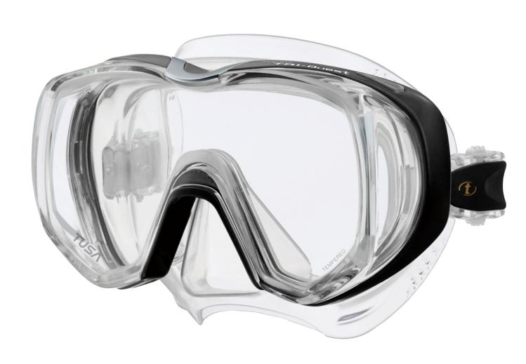 Picture of Einglas-Tauchmaske M-3001, schwarz/transparent, 1 Stück