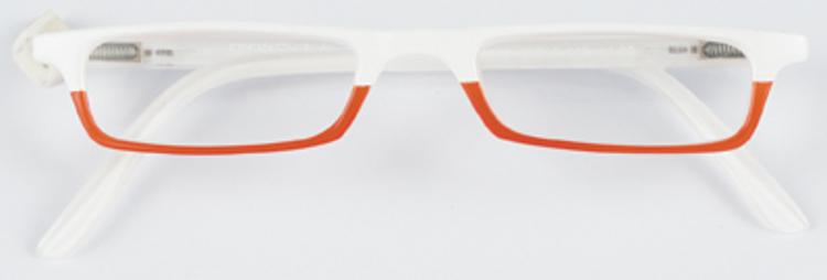Bild von Kunststoff-Lesebrille, weiß/orange, +1,00 dptr.