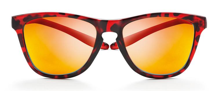 Bild von koala Sonnenbrille, rot gemustert, polarisierende Gläser grau, rot verspiegelt