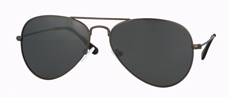 Bild von Metall-Sonnenbrille, gun Metall matt, polarisierende Gläser grau verspiegelt