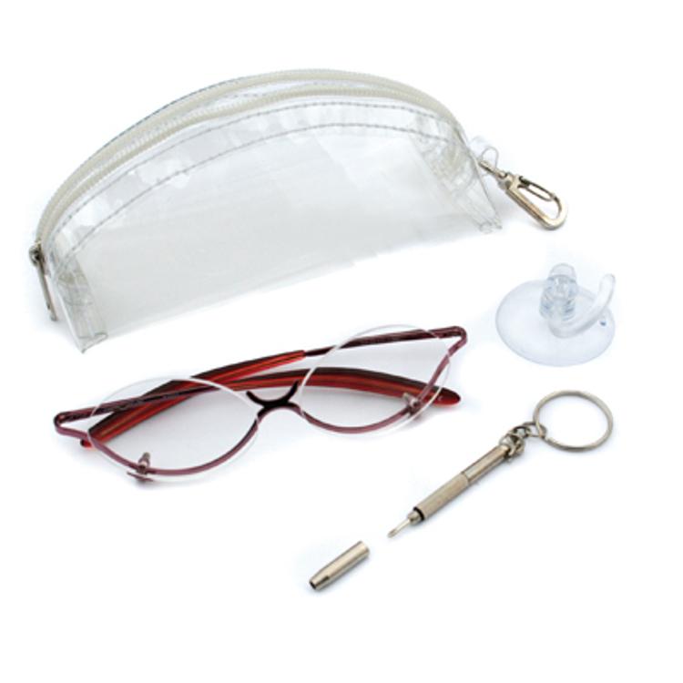 Bild von Lady Schminkbrille mit Korrektion +2.00 dptr., inkl. Etui und Minidreher, 1 Set
