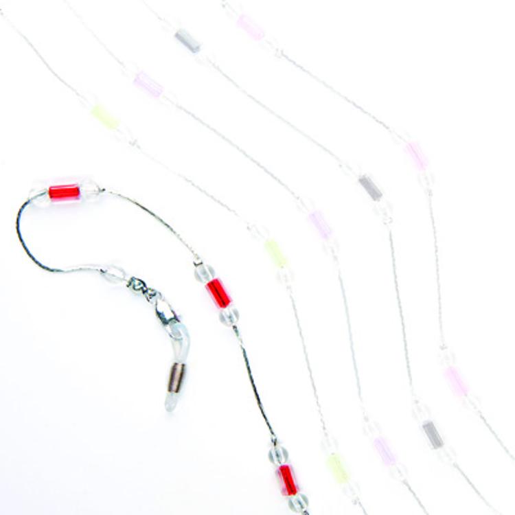 """Bild von Metall-Brillenkette """"Paris"""", lange rote Perlen, 1 Stück"""