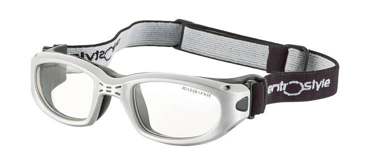 Picture of Sportschutzbrille mit verstellb. Kopfband, Gr. 49-21, silber, schulsporttauglich