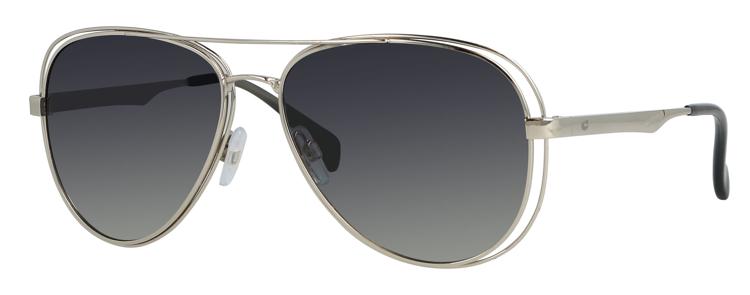 Bild von Metall-Sonnenbrille, silber, Gr. 58-15, polarisierende Gläser grau Verlauf