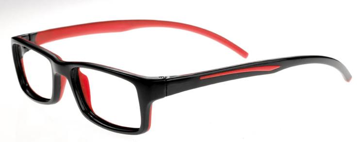 """Bild von Brillenfassung """"Active"""", Gr. 48-17, schwarz/rot, schulsporttauglich"""
