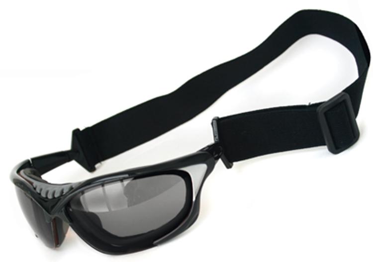 Bild von Wassersportbrille, schwarz/grau, inkl. Kopfband und Etui