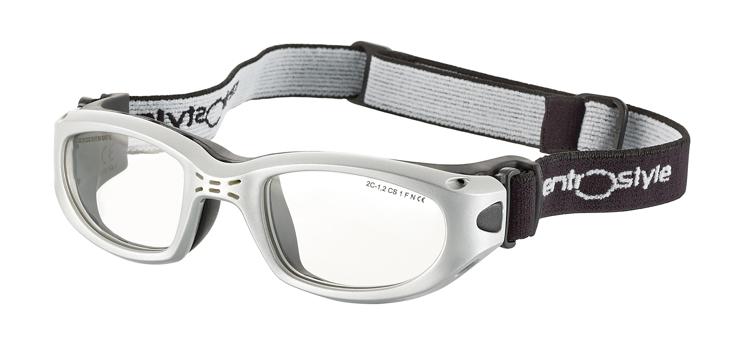 Bild von Sportschutzbrille mit verstellb. Kopfband, Gr. 51-22, silber, schulsporttauglich