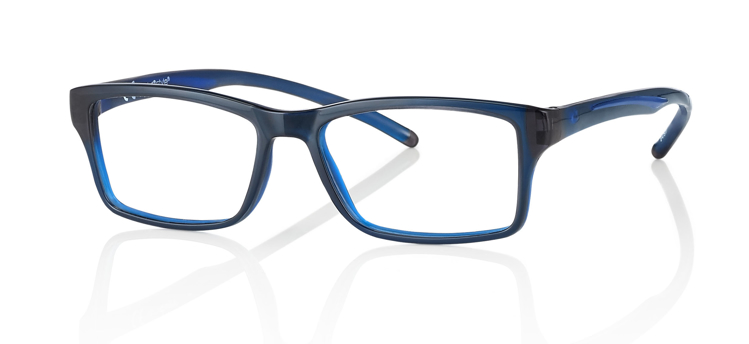 """Bild von Brillenfassung """"Active"""", Gr. 52-16, schwarz/blau, inkl. Brillenhalter und Etui"""