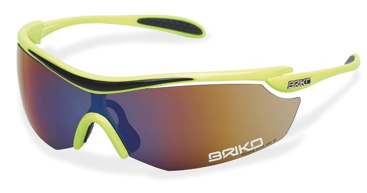 """Bild von BRIKO Sportbrille """"GADRET"""", gelb, Gläser verspiegelt (Kat. 3), 1 Stück"""