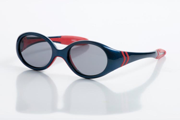 Bild von Kinder-Sonnenbrille, 18 Monate, Gr. 40-15, blau/rot, verglasbar, 1 Stück