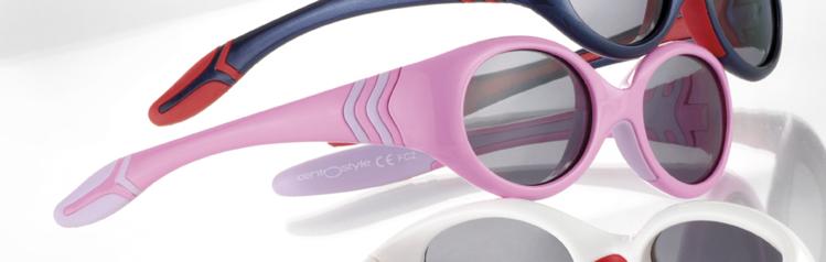 Picture of Kinder-Sonnenbrille, 3-4 Jahre, Gr. 42-15, pink/violett, verglasbar, 1 Stück
