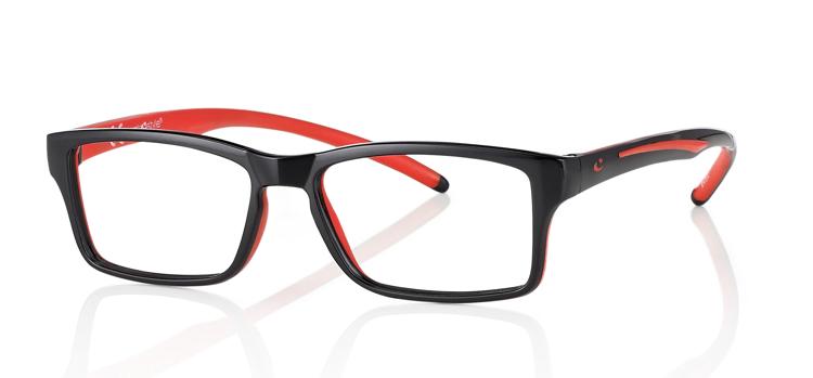 """Picture of Brillenfassung """"Active"""" Gr. 50-15, schwarz/rot, inklusive Brillenhalter und Etui"""