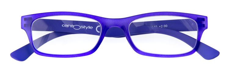"Bild von Kunststoff-Lesebrille ""New Trend"", violettblau matt, Gr. 50-18, inkl. Etui"