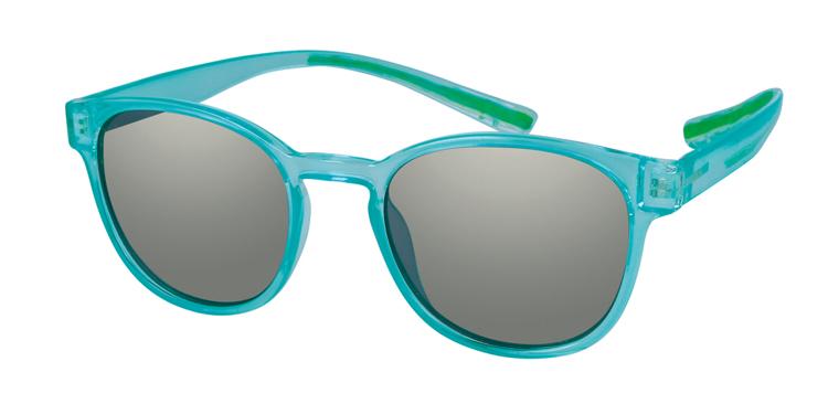 Bild von Kunststoff-Sonnenbrille, türkis transparent, polarisierende Gläser grau