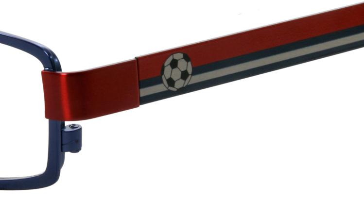 Bild von Kinder-Fanbrille, Metall, mit unterschiedlichen Front- und Bügelfarben