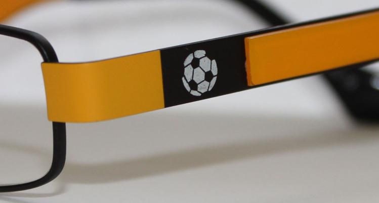 Picture of Kinder-Fanbrille, Metall, mit unterschiedlichen Front- und Bügelfarben,
