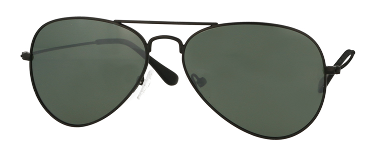 Bild von Metall-Sonnenbrille, schwarz matt, polarisierende Gläser G15 verspiegelt