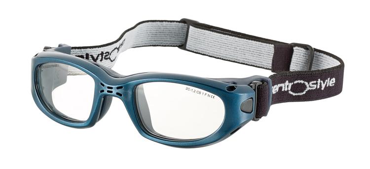 Bild von Sportschutzbrille mit verstellb. Kopfband, Gr. 55-23, blau, schulsporttauglich