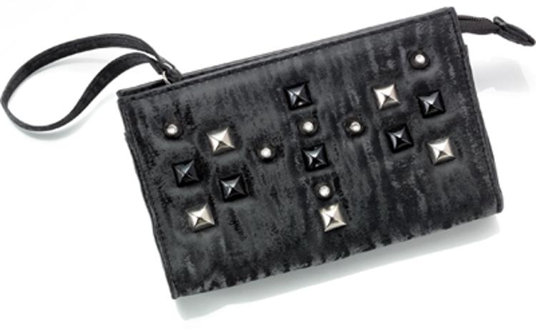 """Bild von Taschenetui """"Dark"""", schwarz mit Nieten, 185 x 110 x 45 mm, 1 Stück"""