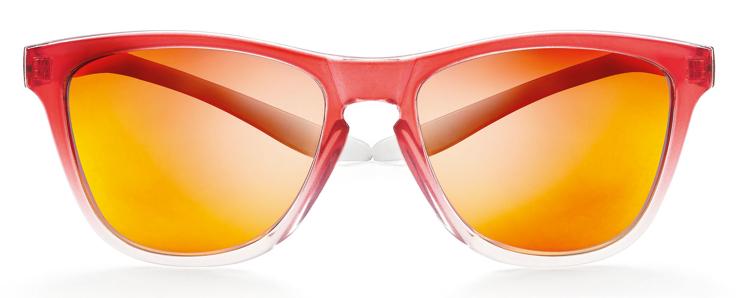 Bild von koala Sonnenbrille, rot verlaufend, polarisierende Gläser grau, rot verspiegelt