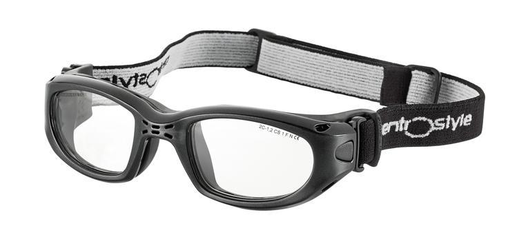Bild von Sportschutzbrille mit verstellb. Kopfband, Gr. 55-23, schwarz,schulsporttauglich