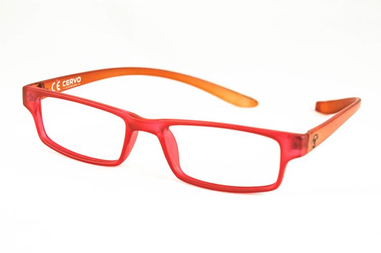 "Bild von Kunststoff-Fertiglesebrille ""Cervo"", rot/orange, Gr. 52-18, 1 Stück"