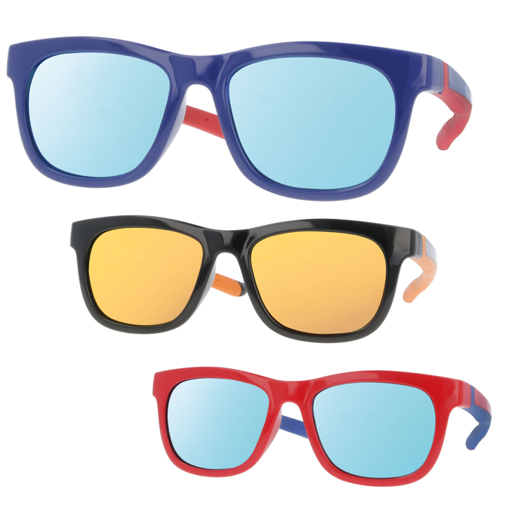 Bild von Kindersonnenbrille, zweifarbig, Gr. 48-17, 3 Farben, Polycarbonat-Gläser versp.