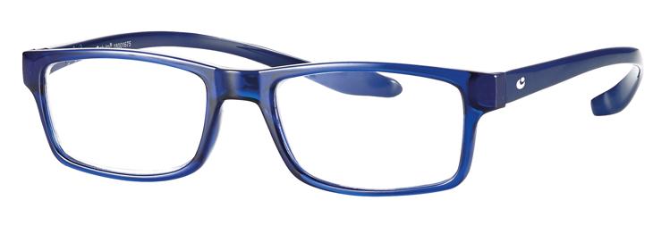 Bild von Kunststoff-Fertiglesebrille mit Blaulichtfilter, blau, Gr. 52-18