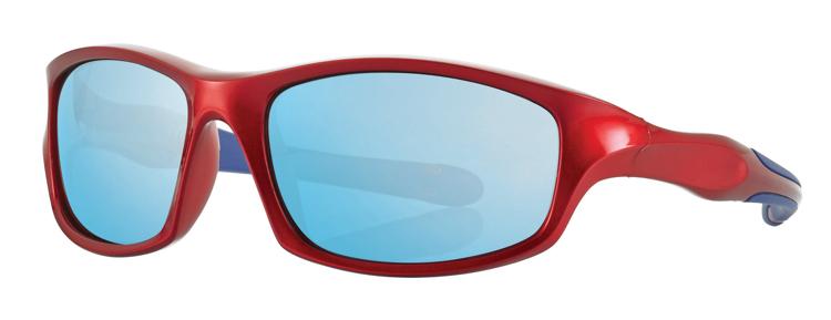 Bild von Kinder-Sonnenbrille, 7-10 Jahre, rot/blau, Gr. 54-16, Polycarbonatgläser versp.