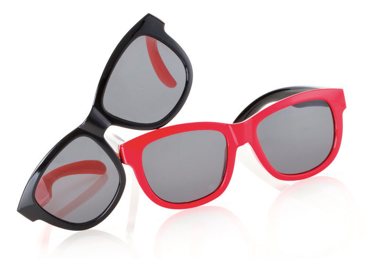 Bild von Kindersonnenbrille, zweifarbig, Gr. 45-15, 2 Farben, Polycarbonat-Gläser