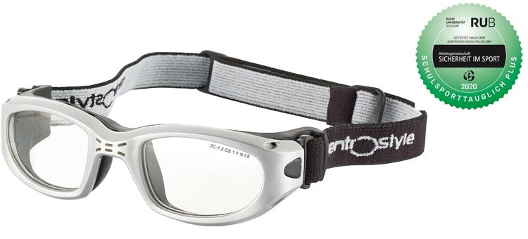 Bild von Sportschutzbrille mit verstellbarem Kopfband, Gr. 47-20, schulsporttauglich