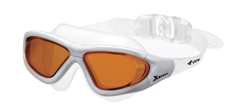 Bild von Schwimm- und Surfbrille Xtreme V-1000A, silber, Gläser orange, 1 Stück